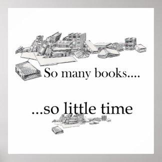 Tan muchos libros tan poco poster del tiempo