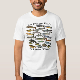 Tan muchos pescados de agua dulce playeras