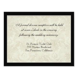 Tan n Cream Red Tulip Damask - Wedding Invites