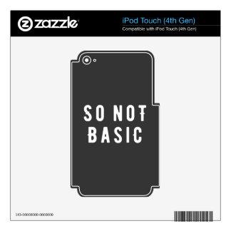 Tan no básico iPod touch 4G calcomanía