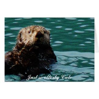 Tan notecard lindo de la nutria de mar de Otterly Tarjeta Pequeña
