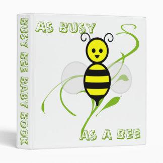 """Tan ocupado como un libro del bebé de la abeja de carpeta 1"""""""