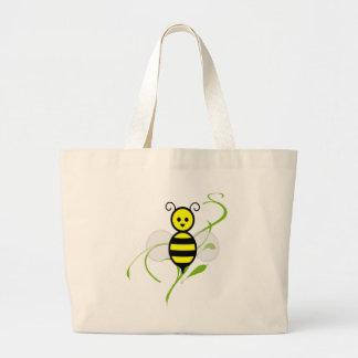 Tan ocupado como una abeja bolsa tela grande