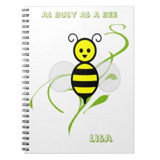 Tan ocupado como una abeja libros de apuntes