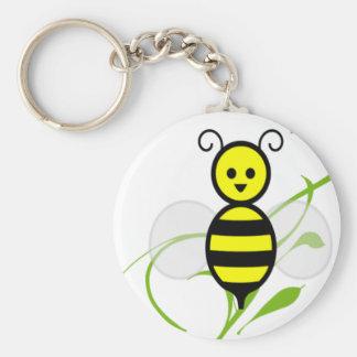 Tan ocupado como una abeja llavero redondo tipo pin