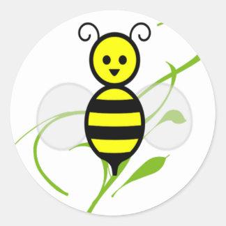 Tan ocupado como una abeja pegatina redonda