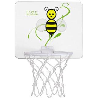 Tan ocupado como una abeja personalizó el mini aro minicanastas