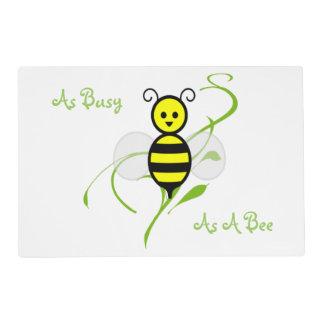 Tan ocupado como una abeja Placemat Tapete Individual