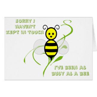 Tan ocupado como una abeja tarjeta de felicitación