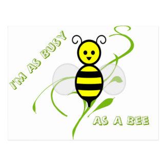 Tan ocupado como una abeja tarjeta postal