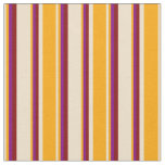 [ Thumbnail: Tan, Orange, Purple & Maroon Lines Fabric ]