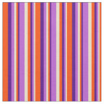 [ Thumbnail: Tan, Orchid, Indigo, and Red Colored Pattern Fabric ]