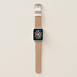 Tan Ostrich Hide Look Apple Watch Band