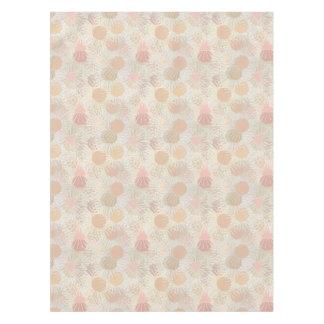 Tan Peach Pink Random Shapes Pattern Tablecloth