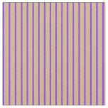 [ Thumbnail: Tan & Purple Pattern Fabric ]