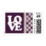 Tan & Purple Plaid Stamp