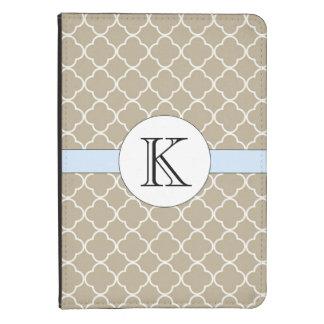 Tan Quatrefoil Pattern Kindle 4 Cover