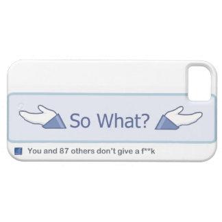 ¿Tan qué? (Botón de Facebook) iPhone 5 Carcasa