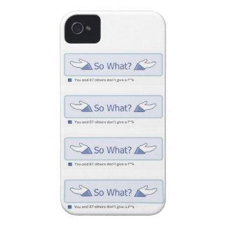 ¿Tan qué? (Botón múltiple de Facebook) Case-Mate iPhone 4 Carcasas