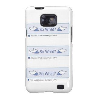 ¿Tan qué? (Botón múltiple de Facebook) Galaxy S2 Funda