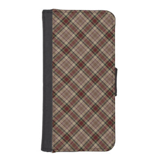 Tan, Red and Green Plaid Phone Wallets