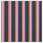 [ Thumbnail: Tan, Red, Beige, Slate Blue, and Black Colored Fabric ]
