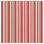 [ Thumbnail: Tan & Red Colored Pattern Fabric ]