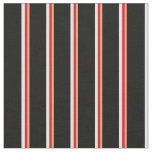 [ Thumbnail: Tan, Red, Mint Cream, and Black Colored Stripes Fabric ]