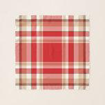 """Tan & Red Plaid Square Coat Chiffon Scarf<br><div class=""""desc"""">Tan & Red Plaid Square Coat Chiffon Scarf</div>"""