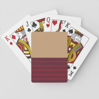Tan & Red Playing Cards
