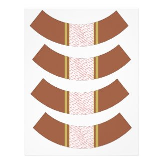 Tan & Rust Fall / Autumn Color Cupcake Liner Customized Letterhead