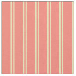 [ Thumbnail: Tan & Salmon Colored Stripes/Lines Pattern Fabric ]