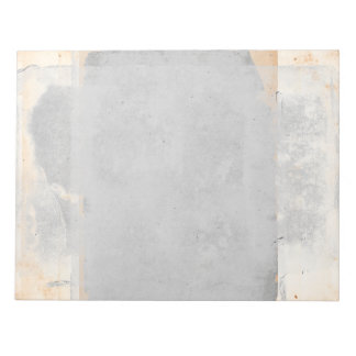 Tan Sand Gray Fresco Style Page Vintage Paint Notepad
