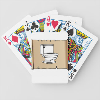 tan scroll toilet bicycle playing cards