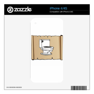 tan scroll toilet iPhone 4 skins