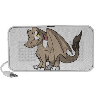 Tan SD Furry Dragon Portable Speakers