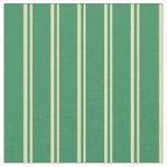 [ Thumbnail: Tan & Sea Green Colored Lines Fabric ]