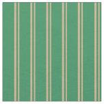 [ Thumbnail: Tan & Sea Green Pattern Fabric ]