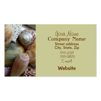 Tan Seahells Business Card