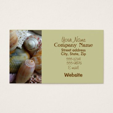 Professional Business Tan Seahells Business Card