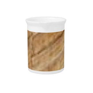 tan slant texture pitcher