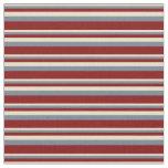[ Thumbnail: Tan, Slate Gray, and Maroon Colored Stripes Fabric ]