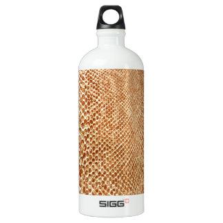 Tan Snakeskin Aluminum Water Bottle