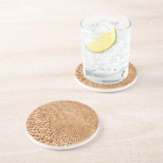 Tan Snakeskin Drink Coaster