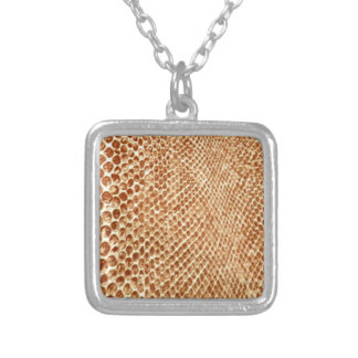 Tan Snakeskin Personalized Necklace