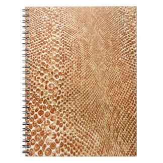Tan Snakeskin Notebook