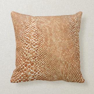 Tan Snakeskin Throw Pillow