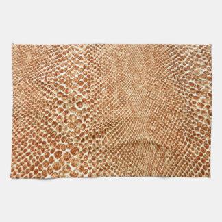 Tan Snakeskin Towel