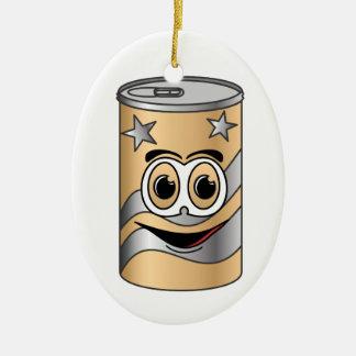 Tan Soda Can Cartoon Ceramic Ornament