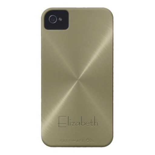 Tan Stainless Steel Metal Look Case-Mate iPhone 4 Cases